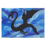 Dragon blue background